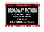 Broadway Motors Stoke on Trent Motorcycles Dealer Decals Transfers DDQ46